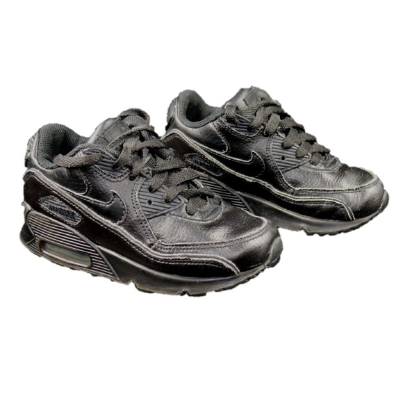 Nike Air Max Toddler Sz 11c Black Leather Shoes